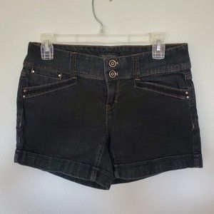 WhiteHouseBlackMarket Black Denim Cuffed Shorts